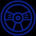 Icon eines Lenkrads